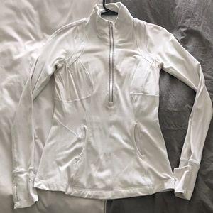 Lululemon White half zip jacket size 4